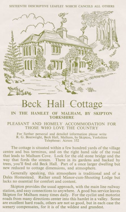 Beck Hall Leaflet p1