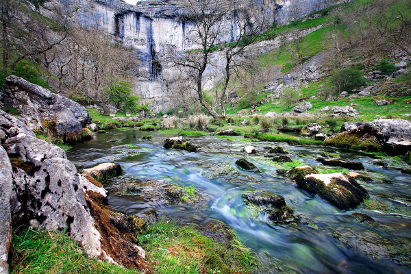Malham Cove close to Beck Hall