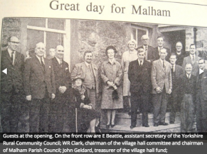 Photo published by the Craven Herald in 1965. Mr Geldard is stood third from left.